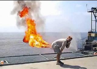 kentut keluar api