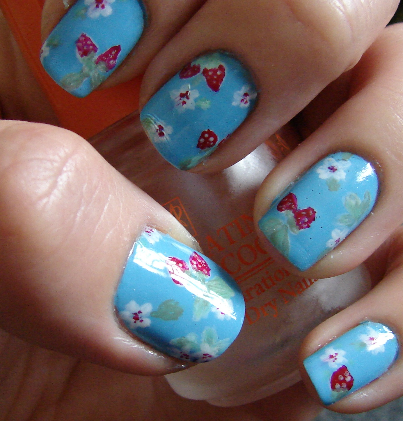 Nail Arts By Rozemist Cath Kidston Vintage Inspired: Kawaii Nail Art: Cath Kidston Inspired Strawberries