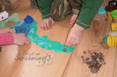 making a playdough dino adventure island