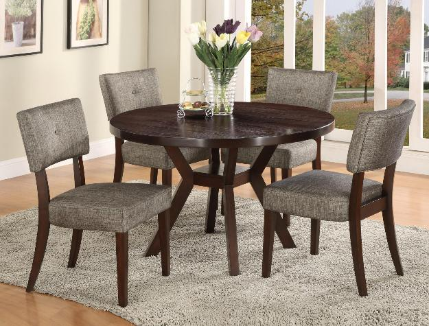 Dining Table Dia 130xh 77cm With Four Chairs Alba Round Dining Table