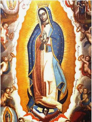 Pintura de la Virgen de Guadalupe