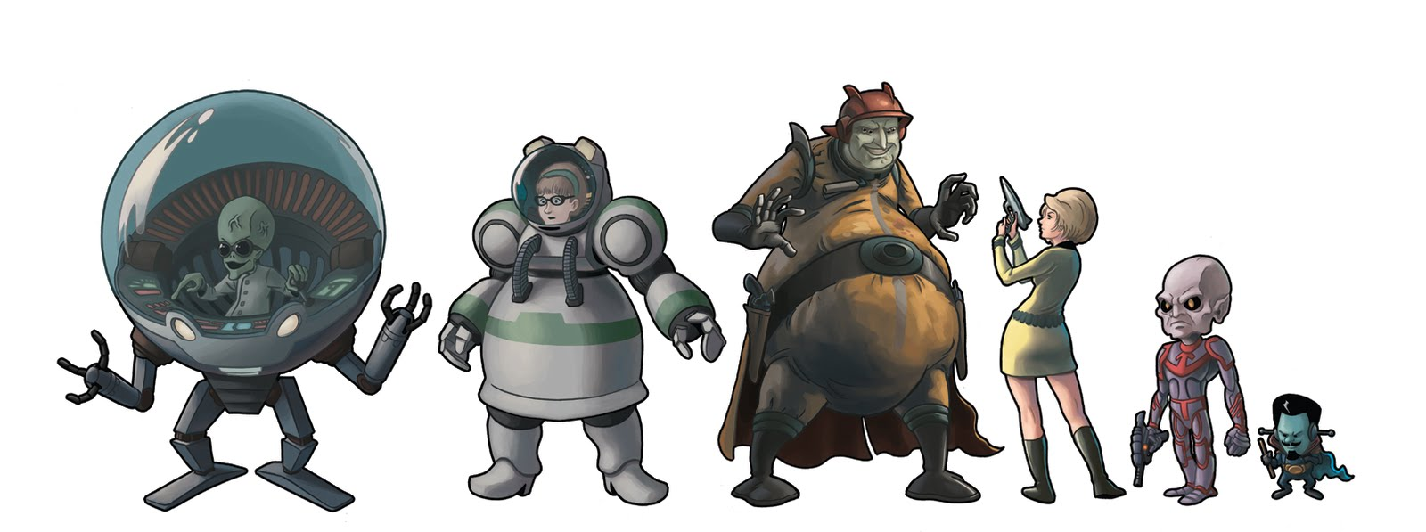 these are some new characters for the upcoming space show 2 0