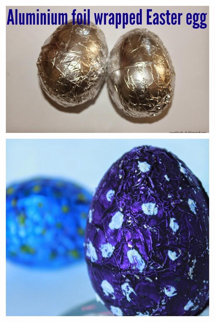 Aluminium foil wrapped Easter egg