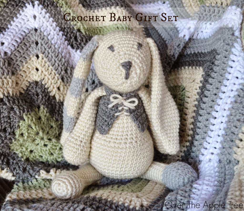 Over The Apple Tree: Crochet Baby Gifts: Afghan and Amigurumi Bunny Set