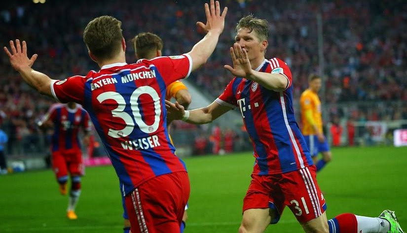 Bayern Munich 1- Herta Berlin  25 April 2015
