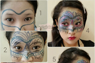 #Product Review, #My Design & DIY : Thinking about Masquarade Painting Face? I have some suggestions for you and I am running on a Competition at Cheras Leisure Mall, VOTE for me for the Grand Finale ! :)