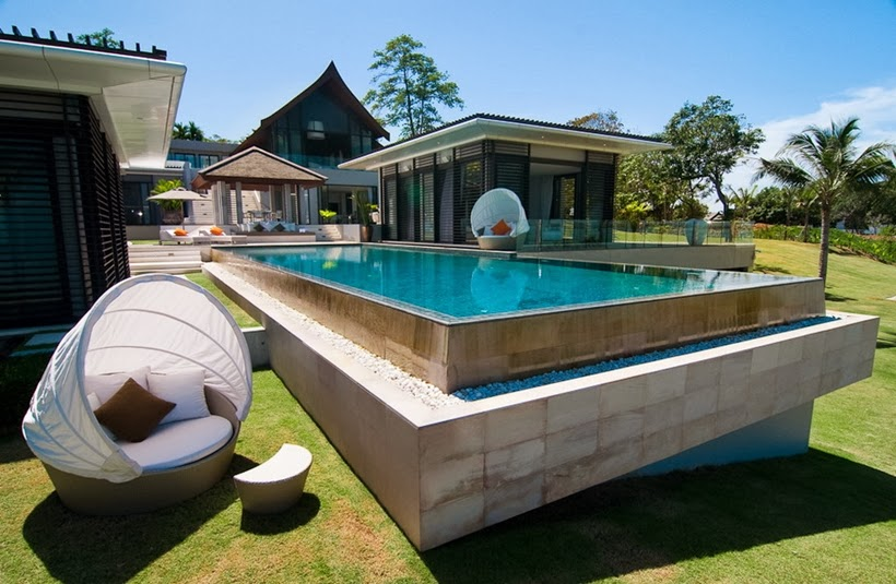 Swimming pool in Contemporary villa in Phuket, Thailand