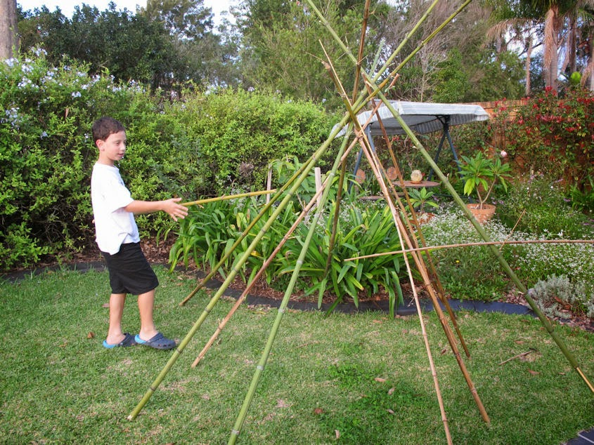 how to make a teepee with bamboo