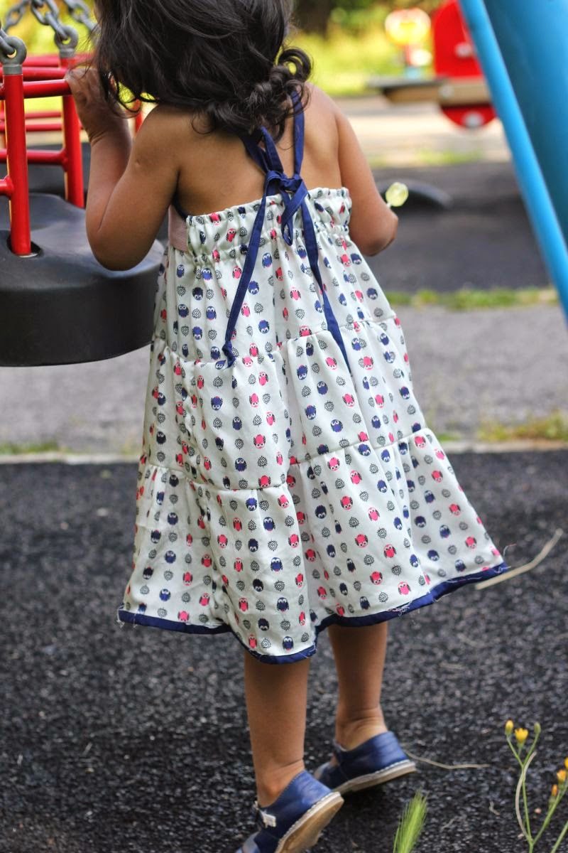 Quick 3 Tier Ruffle Dress Tutorial For A Little Girl