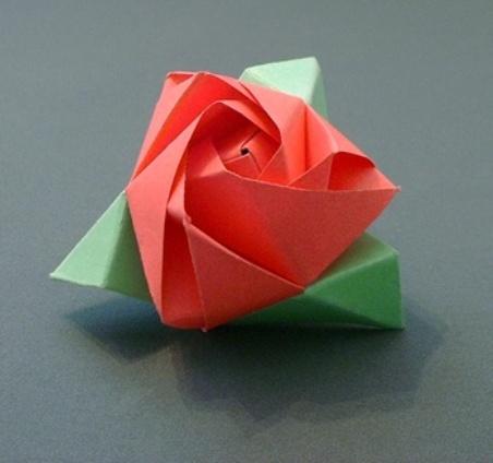 Видео как сделать оригами роза куб