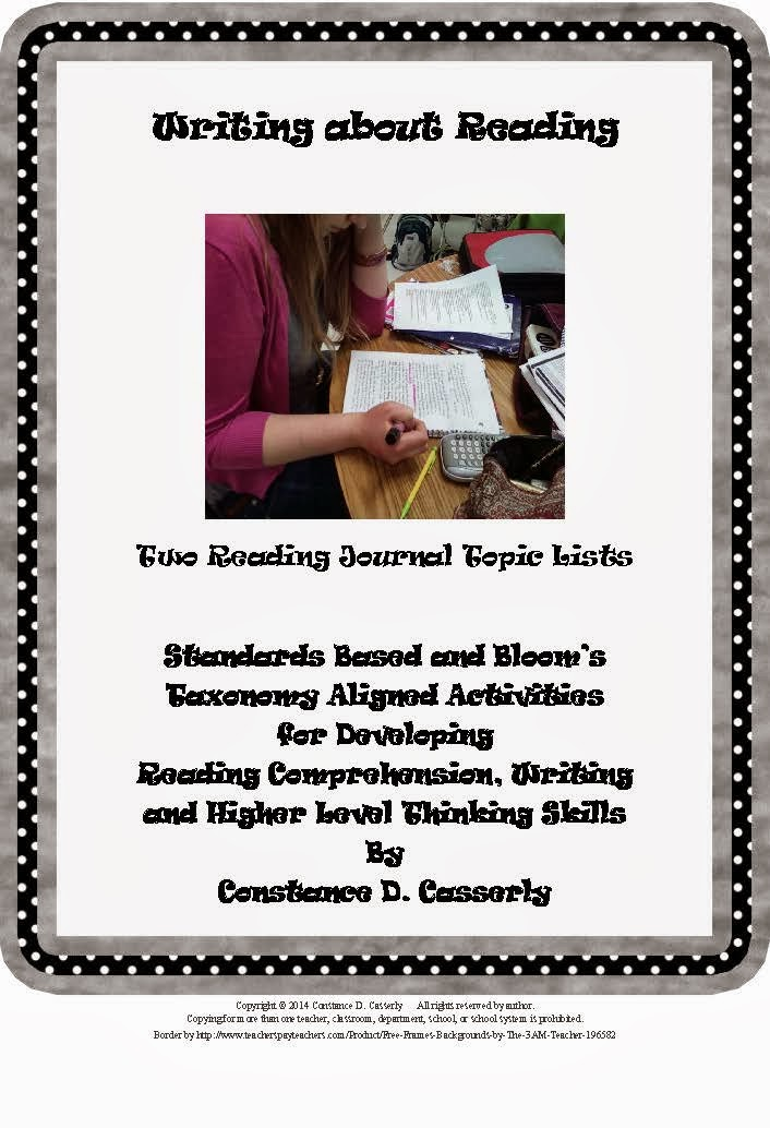 "Language Arts Activity - ""Writing About Reading"