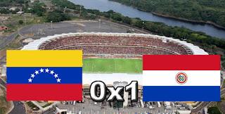 Placar Venezuela 0x1 Paraguai