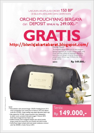 Hadiah Promo Business Class Oriflame Januari 2013