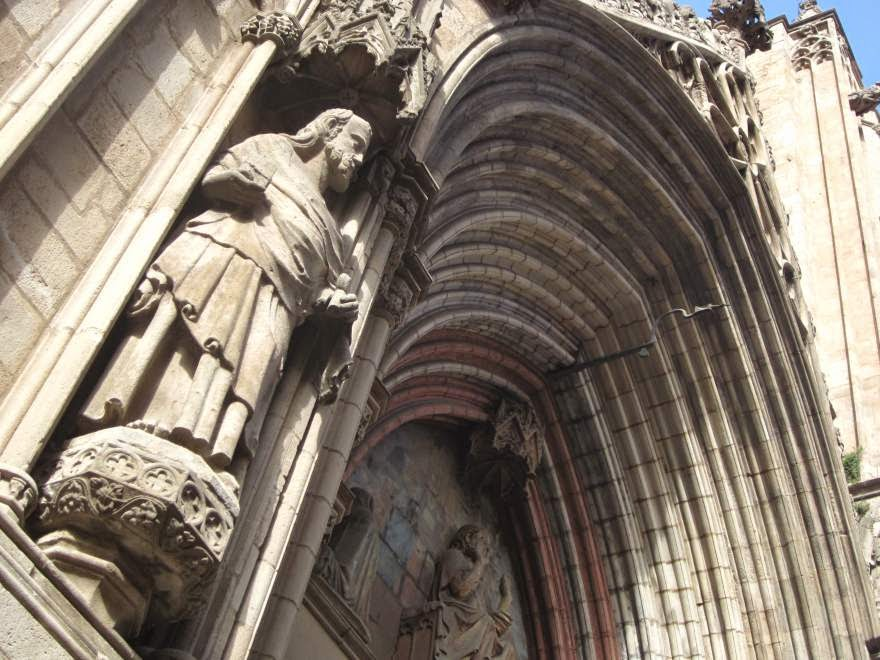 Gothic doorway of Santa Maria del Mar