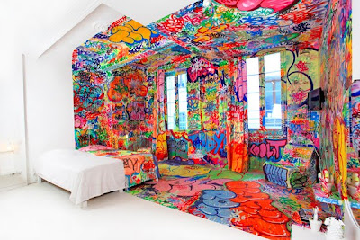 Half Graffiti Hotel Room