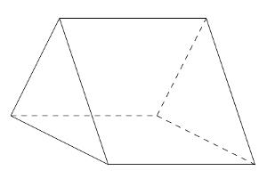 Caja con forma de prisma