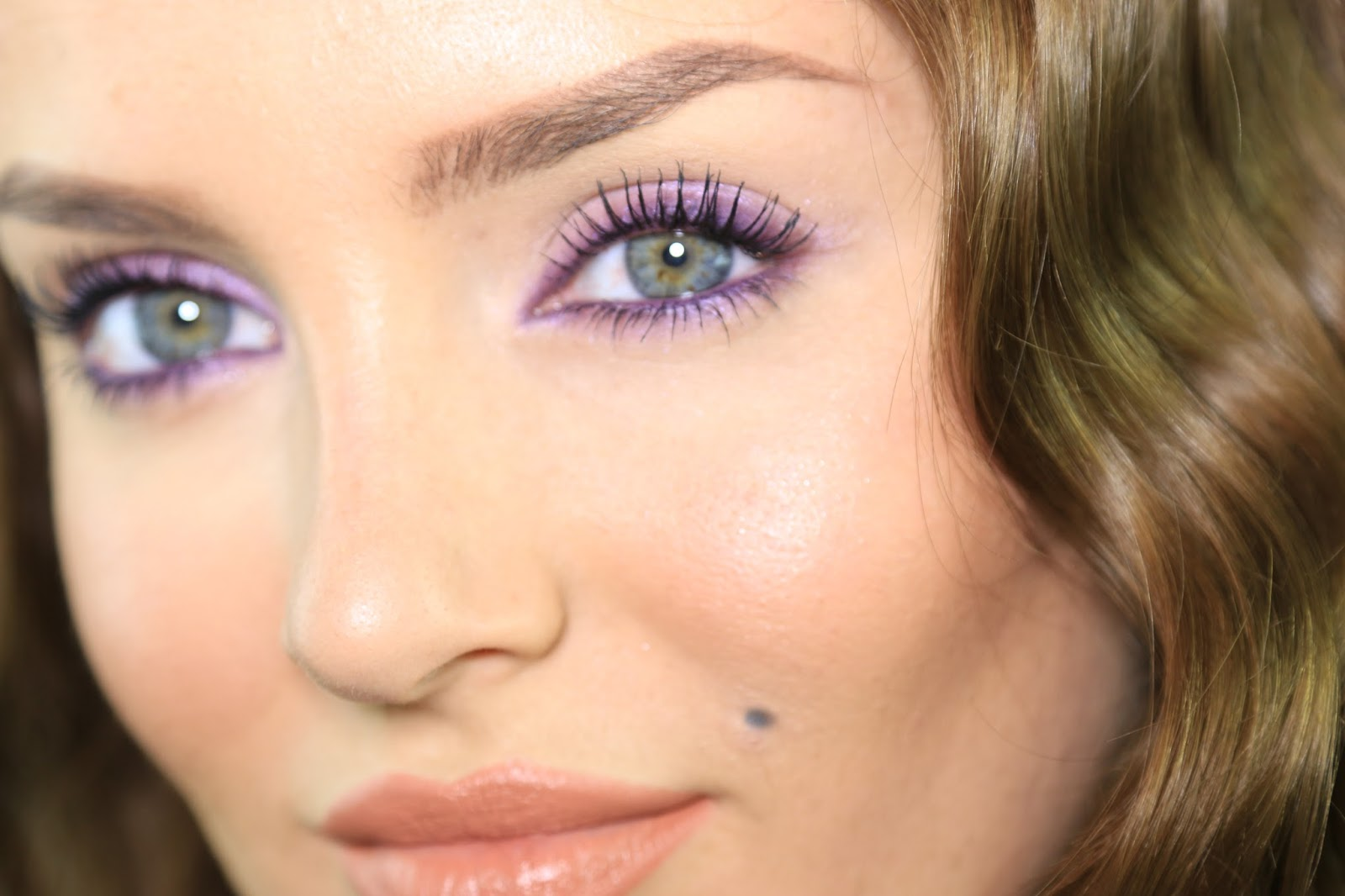 chloe morello easy purple smokey eye in 3 steps
