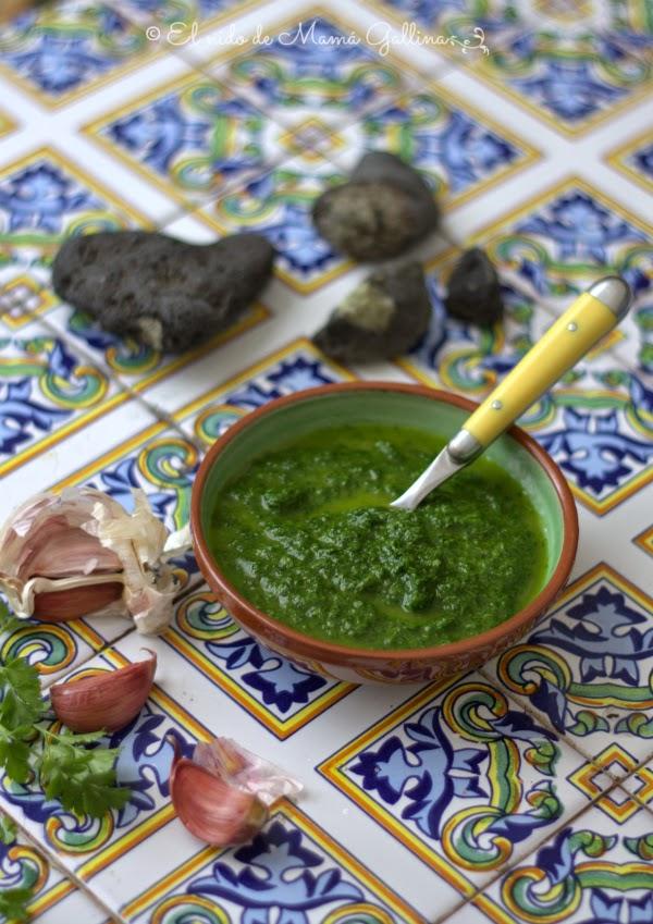 mojo verde de cilantro