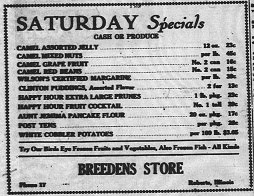 Breedens Store 1947 Ad