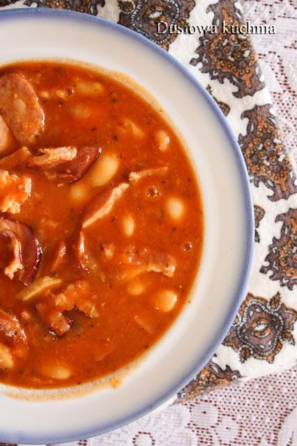 fasolka po bretońsku, przepis na fasolkę po bretońsku, zupa na jesień, rozgrzewająca zupa