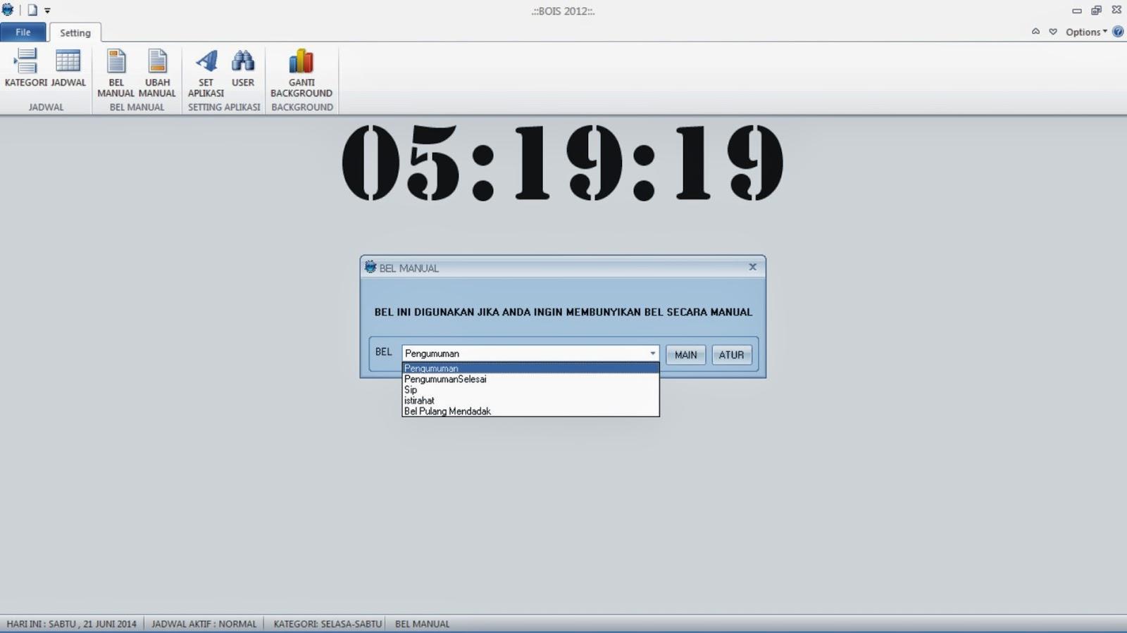 BEL OTOMATIS (BOIS 2012) ~ Agen Software Madiun
