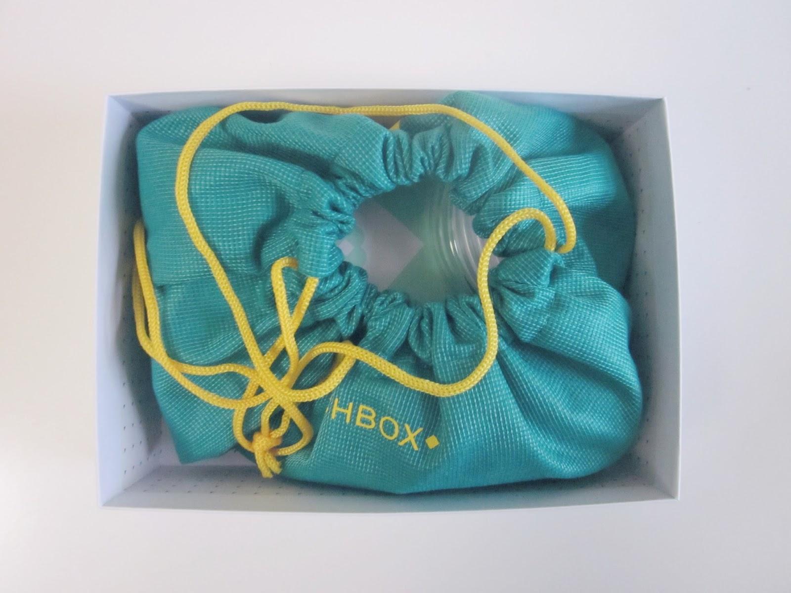 June Birchbox drawstring pouch Brazil