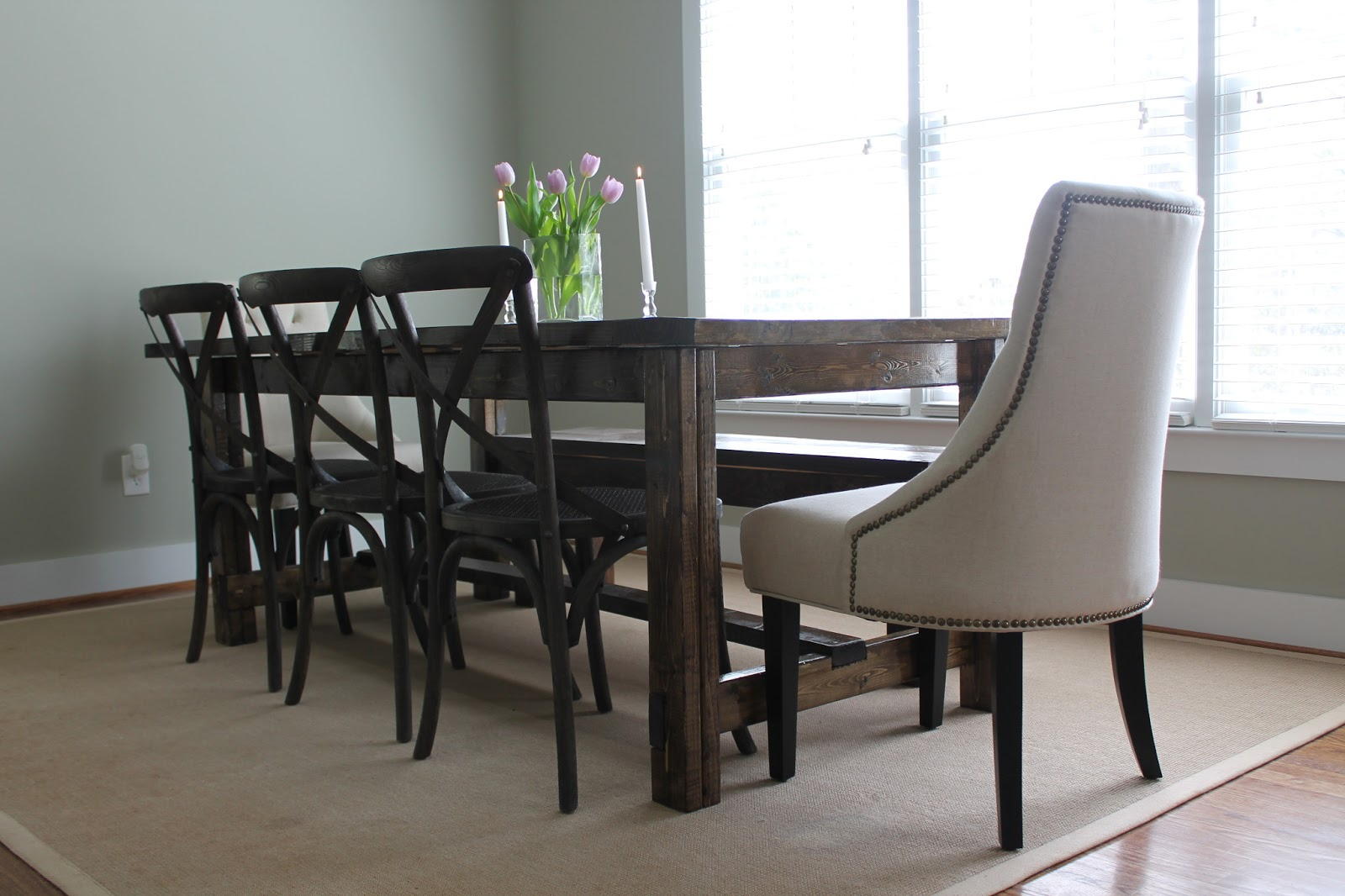 carolina charm diy farmhouse dining table