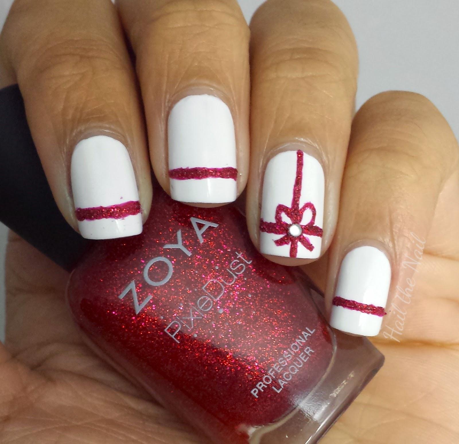 Hail The Nail Christmas Present Nail Art