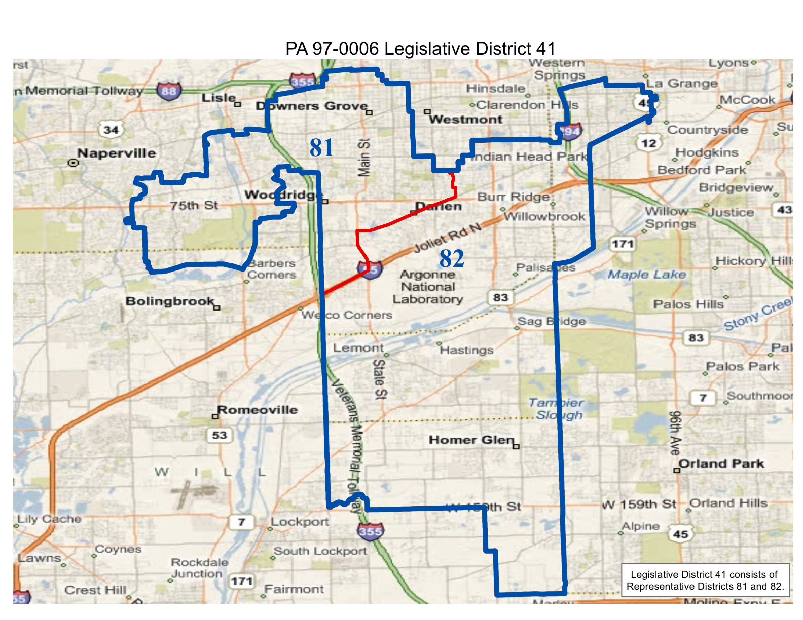 realigned illinois state senate district 41 and state representative districts 81 and 82