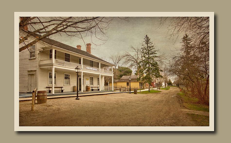 View of Halfway House Inn at Black Creek Pioneer Village.