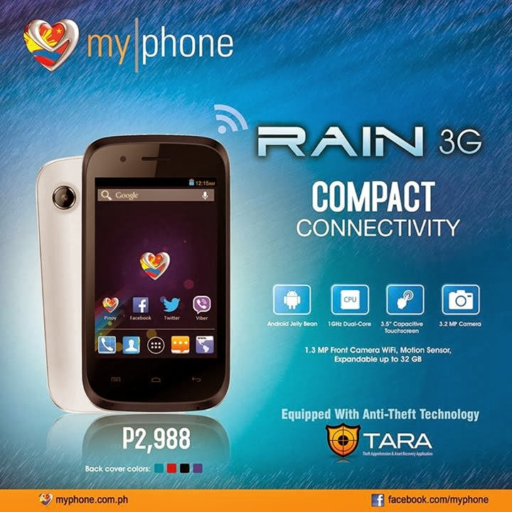 MyPhone Agua RAIN 3G Specs and Price