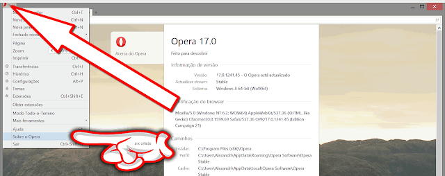 Atualizar Opera