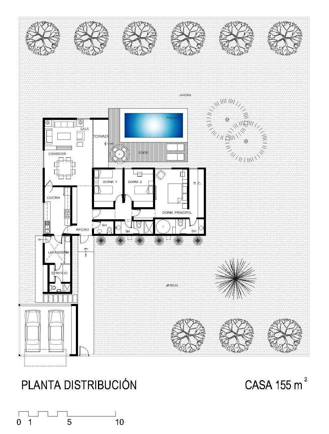 La forma moderna en latinoam rica casas de campo for Planos de casas de campo modernas