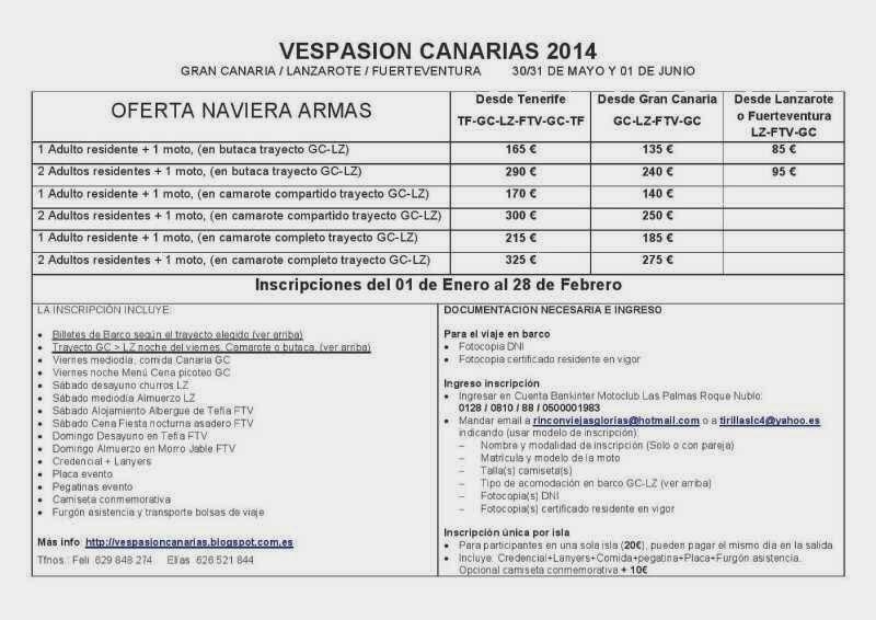 Vespasion canarias enero 2014 - Ofertas canarias enero ...
