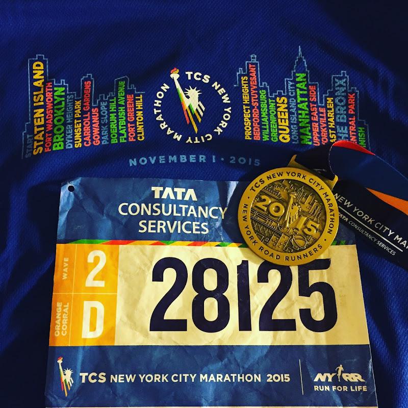 2015 New York Marathon medal tshirt