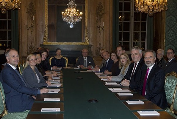 Sweden Royals Attend A Meeting For The 2015 Nobel Prize Ceremony