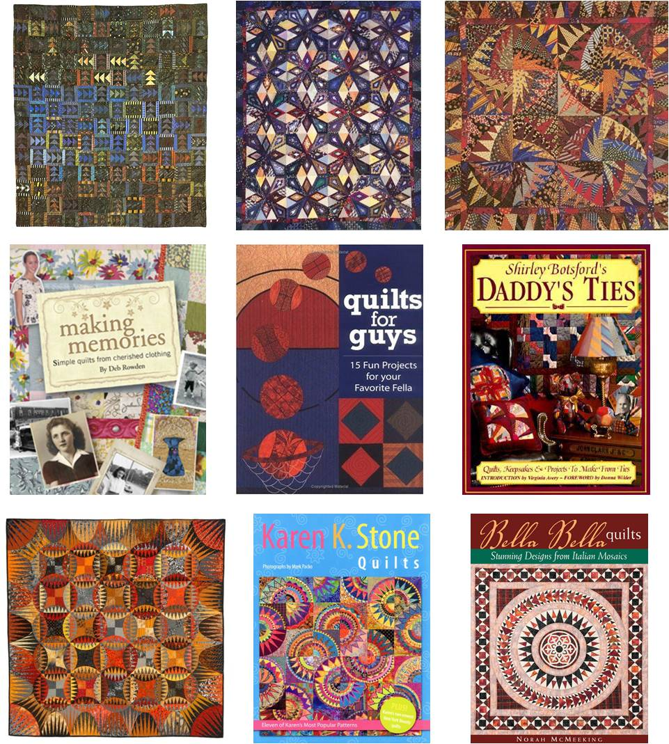 Necktie Quilting Patterns : Quilt Inspiration: All tied up ! Quilts made from neckties
