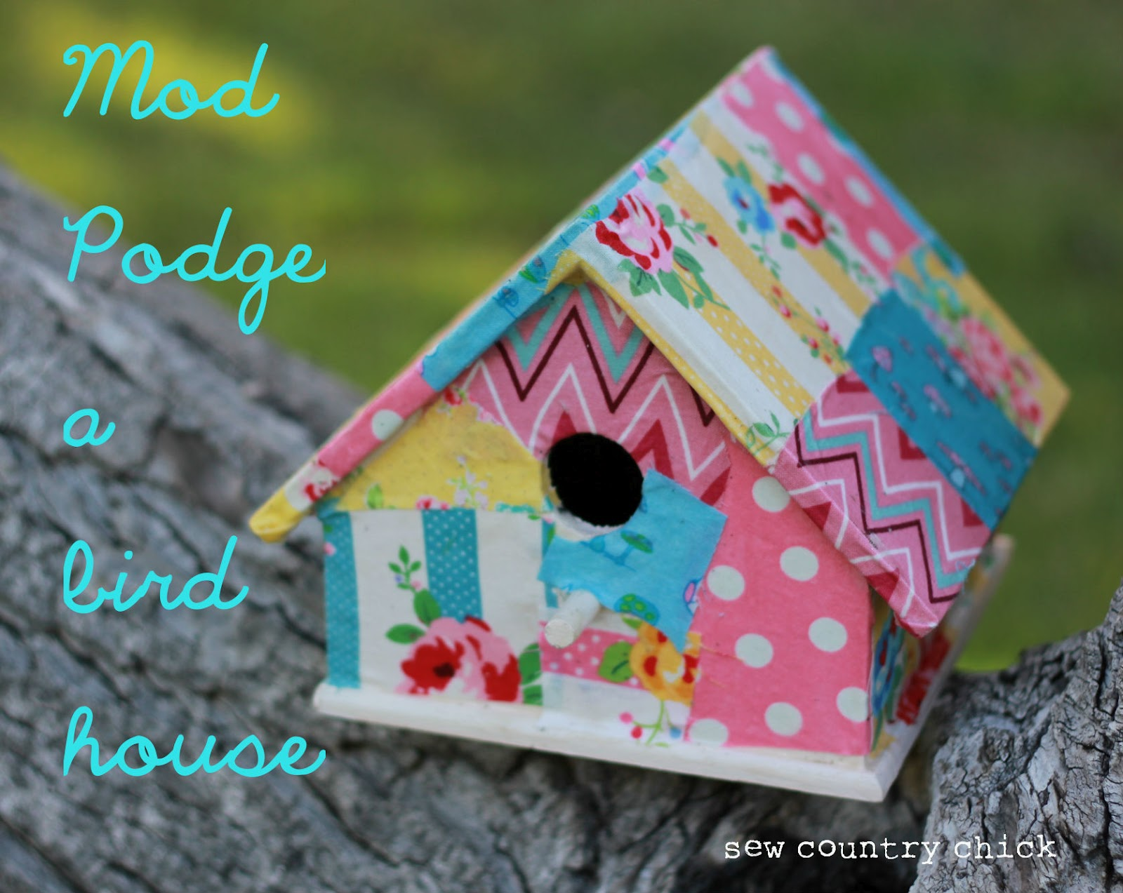 Mod podge a birdhouse spring crafts with kids for Birdhouse project