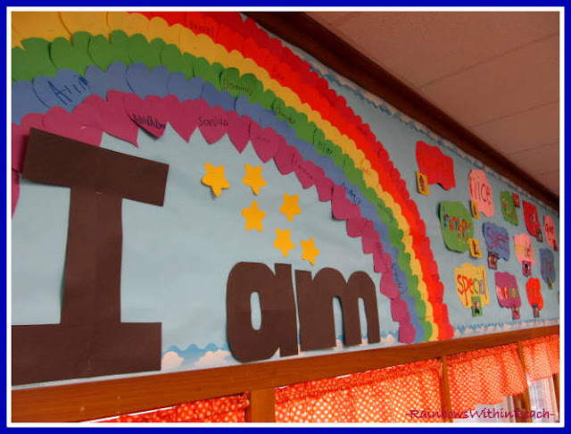 "photo of: ""I Am"" Bulletin Board in Response to ""You're Wonderful"" by Debbie Clement"