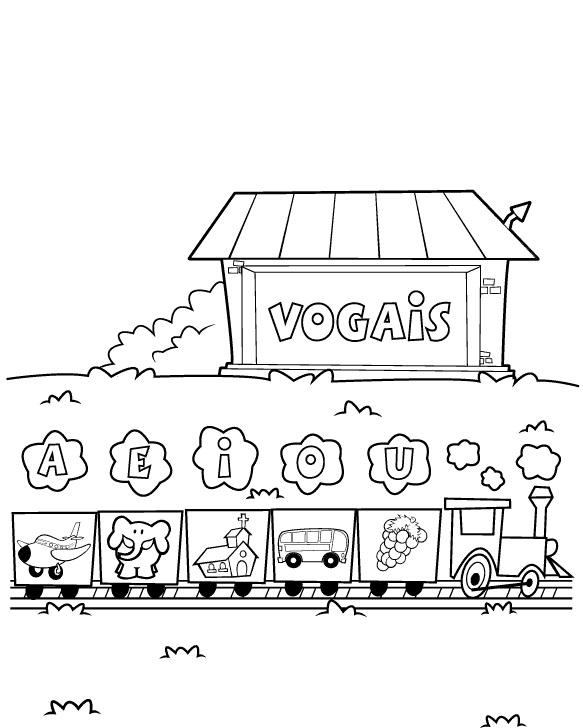 EDUCA    O INFANTIL   Vamos Pintar As Vogais