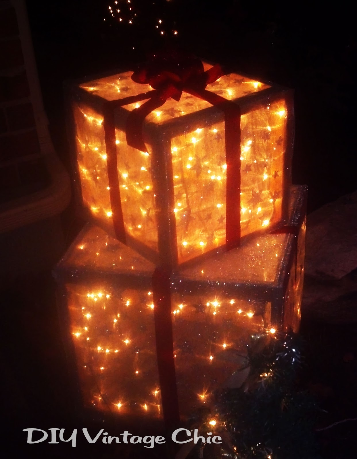 Hometalk diy christmas window decoration - Lighted Christmas Lawn Ornaments