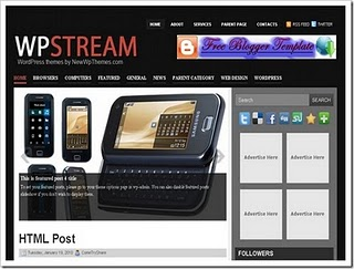 Stream Blogger Template,blogger, template