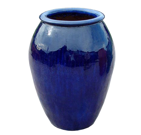 outdoor ceramic pot blue outdoor ceramic pot