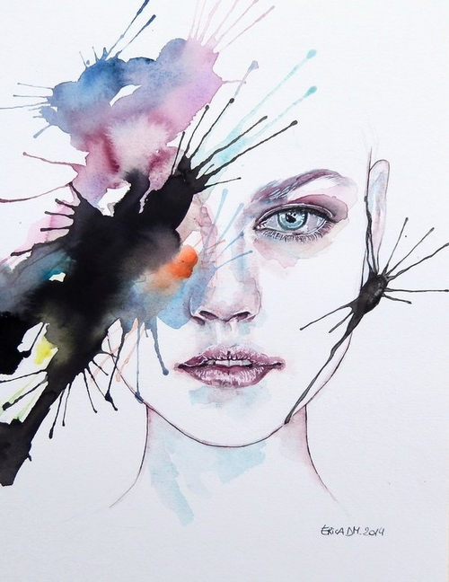 16-Revenge-Erica-Dal-Maso-Expressing-Emotions-Through-Watercolor-Paintings-www-designstack-co