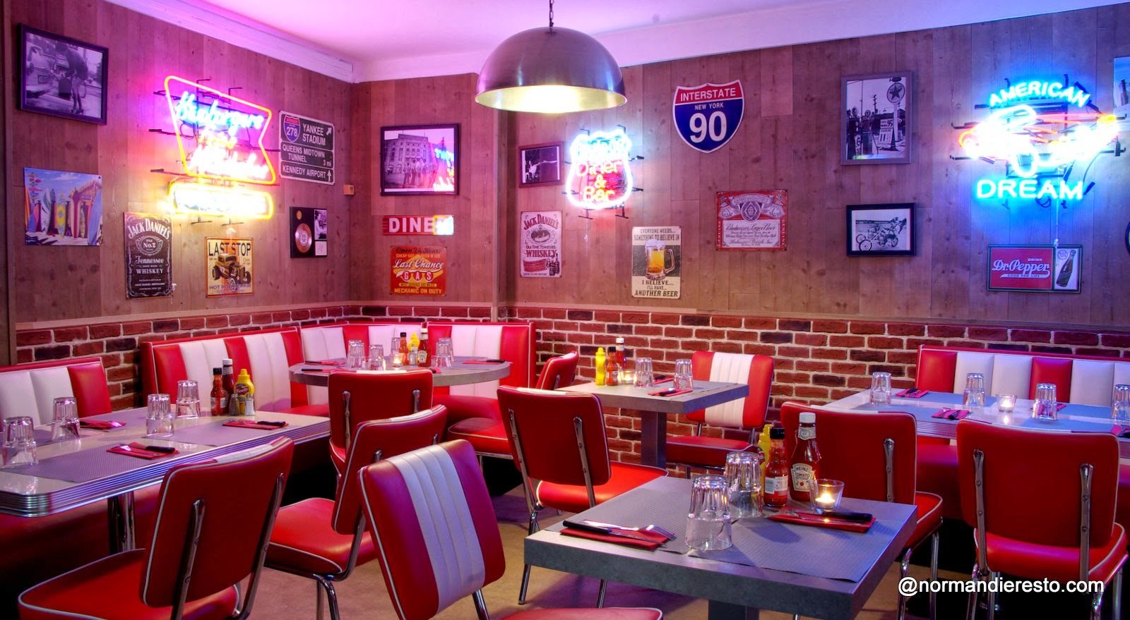 Le fifty 39 s american diner au havre for American nouveau cuisine