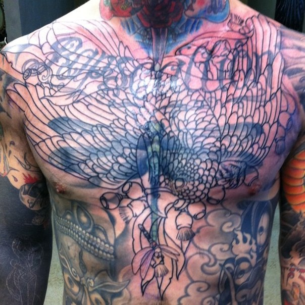 Ink it up traditional tattoos cover up tattoo for Chest cover up tattoos