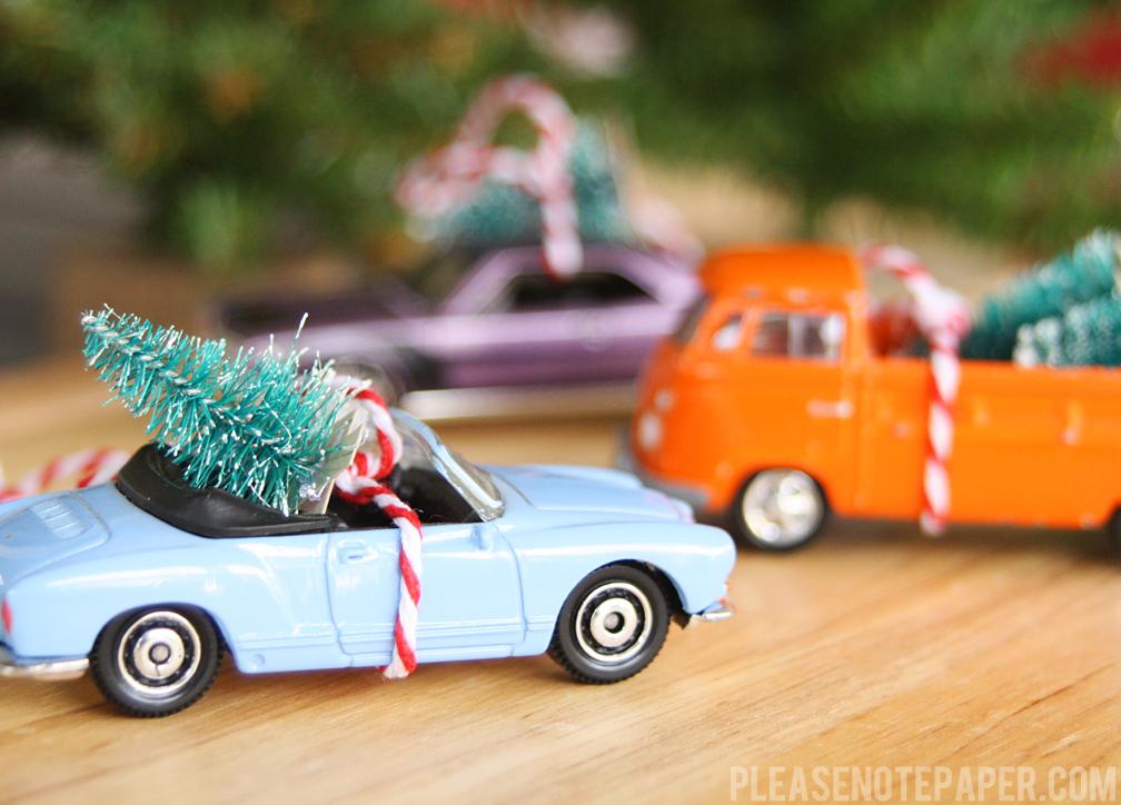 Please Note: DIY: Christmas Car Ornaments