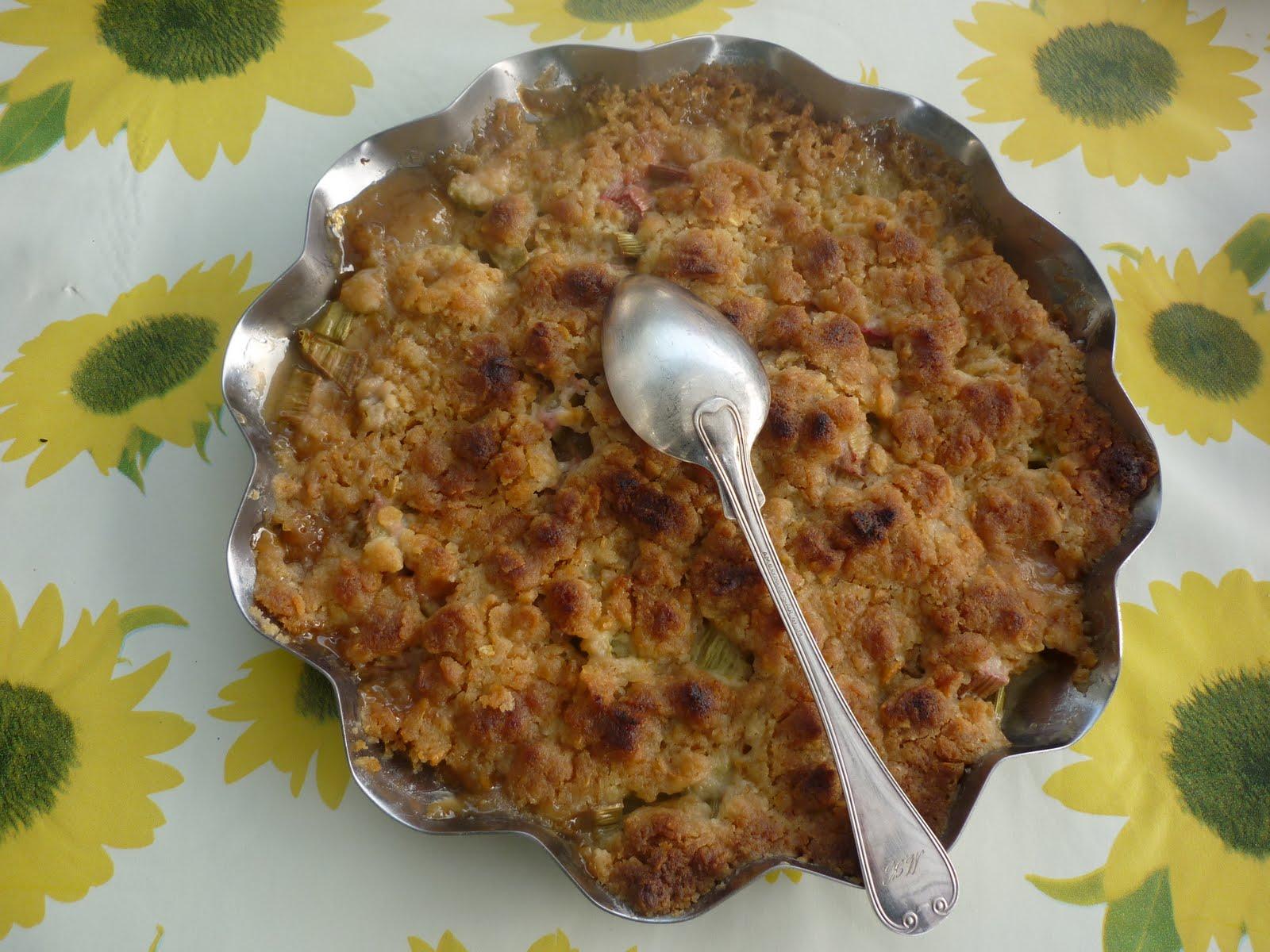 rabarberpaj med cornflakes