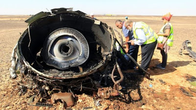 Russian airplane broke up in mid-air