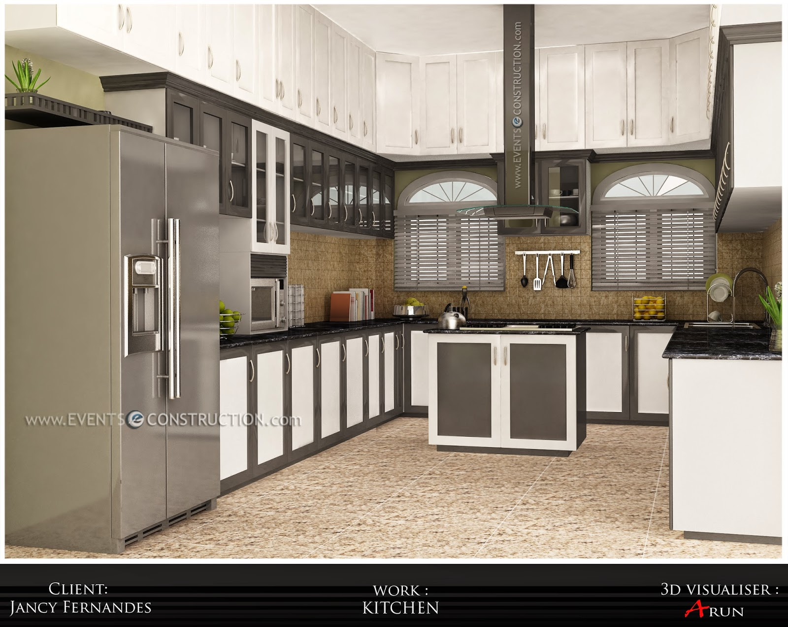 Evens construction pvt ltd modern kerala kitchen interior for Modern kitchen designs in kerala